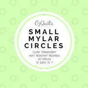 "Small Mylar Heat Resistant Circles Templates Set to 1"" by OzQuilts Mylar Templates - OzQuilts"