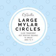 "Large Mylar Heat Resistant Circles Templates Set to 4"" by OzQuilts Mylar Templates - OzQuilts"