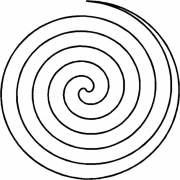 Full Line Stencil Large Spiral by Hancy Full Line Stencils - Pounce Pads & Quilt Stencils