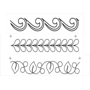 Full Line Stencil Border Assortment 3x by Hancy Full Line Stencils - Pounce Pads & Quilt Stencils