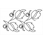 Full Line Stencil Double Le Mae by Hancy Full Line Stencils - Pounce Pads & Quilt Stencils