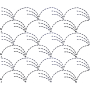 Full Line Stencil Sashiko Stitch Grass by Hancy Full Line Stencils - Pounce Pads & Quilt Stencils