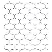 Full Line Stencil Sashiko Stitch Fish Net by Hancy Full Line Stencils - Pounce Pads & Quilt Stencils