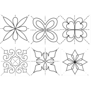 """Full Line Stencil Score Of Four 4"""" by Hancy Full Line Stencils - Pounce Pads & Quilt Stencils"""