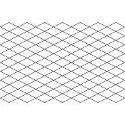 Full Line Stencil Diamond Grid by Hancy Full Line Stencils - Pounce Pads & Quilt Stencils