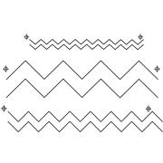 "Full Line Stencil Chevron Border - 1"", 2"" & 3.5"" by Hancy Full Line Stencils - Pounce Pads & Quilt Stencils"