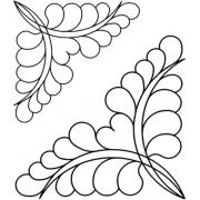 Full Line Stencil Jewlie Corner Triangle by Hancy Full Line Stencils - Pounce Pads & Quilt Stencils