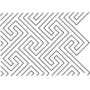 Full Line Stencil Modern Maze by Hancy Full Line Stencils - Pounce Pads & Quilt Stencils