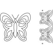 Full Line Stencil Butterfly Motif & Border by Hancy Full Line Stencils - Pounce Pads & Quilt Stencils