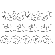 Full Line Stencil Kit & Caboodle by Hancy Full Line Stencils - Pounce Pads & Quilt Stencils