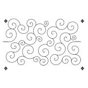 Full Line Stencil Swirls And Curls by Hancy Full Line Stencils - Pounce Pads & Quilt Stencils