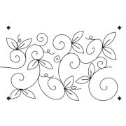 Full Line Stencil Whimsical Garden by Hancy Full Line Stencils - Pounce Pads & Quilt Stencils