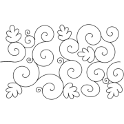 Full Line Stencil Oak Leaf Swirl by Hancy Full Line Stencils - Pounce Pads & Quilt Stencils