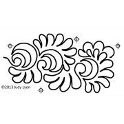 Full Line Stencil Interlocking El Dorado 6-3/4in Wide by Hancy Full Line Stencils - Pounce Pads & Quilt Stencils