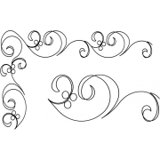 Full Line Stencil Along The Way 2-1/2in & 4in by Hancy Full Line Stencils - Pounce Pads & Quilt Stencils