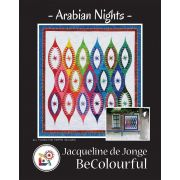 Arabian Nights Pattern & Foundation Papers by Jacqueline de Jongue by BeColourful Quilts by Jacqueline de Jongue - Patterns & Foundation Papers