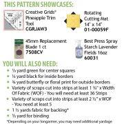 Pineapple Salad Cut Loose Press Pattern by Cut Loose Press Patterns Cut Loose Press Patterns - OzQuilts