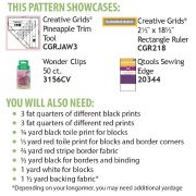 Pineapple Salsa Cut Loose Press Pattern by Cut Loose Press Patterns Cut Loose Press Patterns - OzQuilts