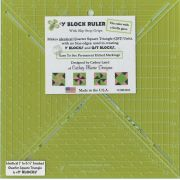 Y Block Ruler by Cathey Marie Designs Specialty Rulers - OzQuilts