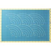 Full Line Stencil Baptist Fan by Hancy Full Line Stencils - Pounce Pads & Quilt Stencils