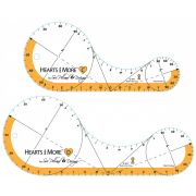 """Hearts & More Templates Large Set - 9"""" & 12"""" by Sue Pelland Designs Rotary Cut Applique Rulers - OzQuilts"""