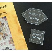 Lucy Boston Patchwork of the Crosses 1 inch Basic Block Template Set by  EPP Templates - OzQuilts