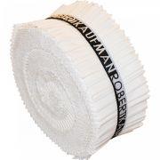 "Kona Cotton Rollups 2.5"" Strips - Snow by Robert Kaufman Fabrics - Kona Cotton"