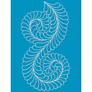 Full Line Stencil Fancy Feather Border by Hancy Full Line Stencils - Pounce Pads & Quilt Stencils