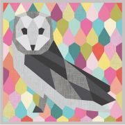 The Barn Owl English Paper Piecing Pattern & Papers by  - Abstractions Patterns Violet Craft