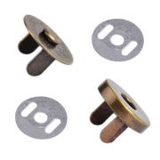 Bronze Magnetic Handbag Snap - Small 14mm by  - Hardware for Bags
