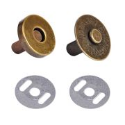 Bronze Magnetic Handbag Snap - Large 18mm by  - Hardware for Bags