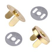 Gold Magnetic Handbag Snap - Large 18mm by  Hardware for Bags - OzQuilts