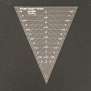 """45 Degree Spider Web/ Cobweb Triangle Ruler - 8"""" Tall by OzQuilts - OzQuilts Templates"""