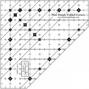 Mini Simple Folded Corners Ruler by Antler Quilt Design Specialty Rulers - OzQuilts