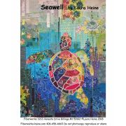 Seawell Sea Turtle Collage by Laura Heine by Fiberworks Collage  - OzQuilts