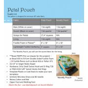 Petal Pouch Pattern by Poorhouse Quilt Designs by PoorHouse Quilt Designs - Bag Patterns