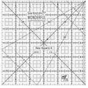 """Sew Kind of Wonderful 6"""" Sew Square by Sew Kind of Wonderful Specialty Rulers - OzQuilts"""