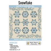 Snowflake by Edyta Sitar of Laundry Basket Quilts -Pattern, Paper Piece and Acrylic Fabric Cutting Template Pack by Paper Pieces - Paper Pieces Kits & Templates