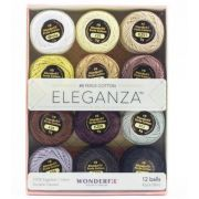 Wonderfil Eleganza 8wt Ball Pack - Neutrals by Wonderfil Eleganza Perle 8 Balls - Thread Sets