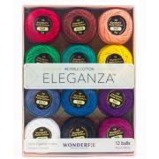 Wonderfil Eleganza 8wt Ball Pack - Kaleidoscope by Wonderfil Eleganza Perle 8 Balls - Thread Sets