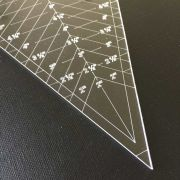 """45 Degree Spider Web/ Cobweb Triangle Ruler - 8"""" Tall by  - Custom Quilt Template Sets"""