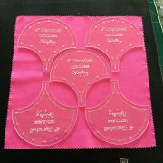 """Clamshell Patchwork Template 4"""" by OzQuilts Specialty Rulers - OzQuilts"""