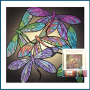 Dance of the Dragonfly Quilt Kit in Topaz by JoAnn Hoffman - Kits