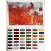 Wonderfil Mirage Thread Colour Chart by Wonderfil Mirage 30wt Multi Coloured Rayon - Thread Colour Charts