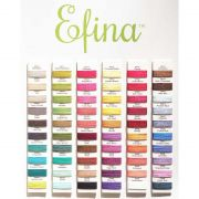 Efina -  Pumpkin (EFS47)  by Sue Spargo Efina Cotton - Sue Spargo Efina 60wt Cotton