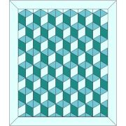 """Rhombus Baby Block 3D Cube Template fits 10"""" Squares & 5"""" Strips by OzQuilts - OzQuilts Templates"""
