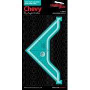 Creative Grids Machine Quilting Tool - Chevy by Creative Grids Machine Quilting Rulers - OzQuilts