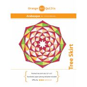 Arabesque Christmas Tree Skirt Pattern & Papers by Orange Dot Quilts - Patterns & Foundation Papers
