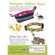 "Sue Spargo Bird Dance Designer Ribbon 7/8"" wide by Tula Pink - Ribbon"