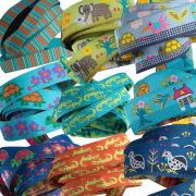 "Sue Spargo Bird Dance Designer Ribbon 7/8"" wide by Tula Pink Bag Making Ribbon  - OzQuilts"